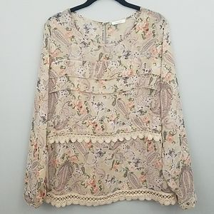 Anthropologie - Pleione Paisley Top size large